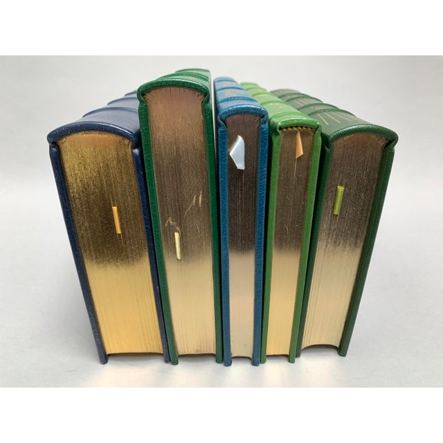 Easton Press Vintage Leatherbound Books, Blue and Green - Set of 5 For Sale In New York - Image 6 of 13