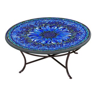"""Bella Bloom 36"""" Coffee Table with Black Base For Sale"""