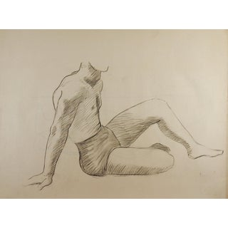 1950's Study Drawing Male Figure For Sale