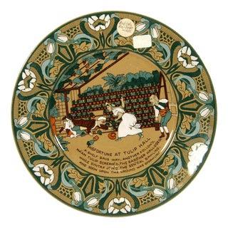 """Buffalo Pottery Deldare """"Misfortune at Tulip Hall"""" Plate For Sale"""