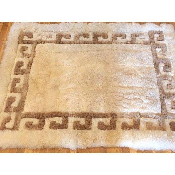 Mid Century Modern Peruvian Alpaca Rug Sheepskin Rug or Wall Textile ...