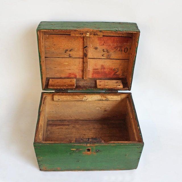 Hungarian Green Storage Box - Image 3 of 3