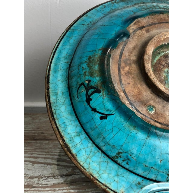 Kushan Turquoise Plate For Sale In San Francisco - Image 6 of 10