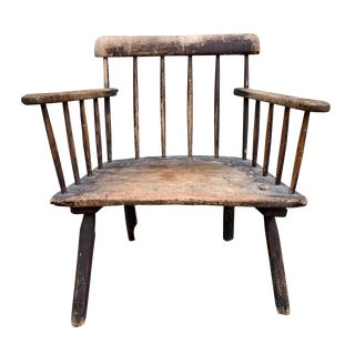 18th Century Antique Irish Hedge Chair For Sale