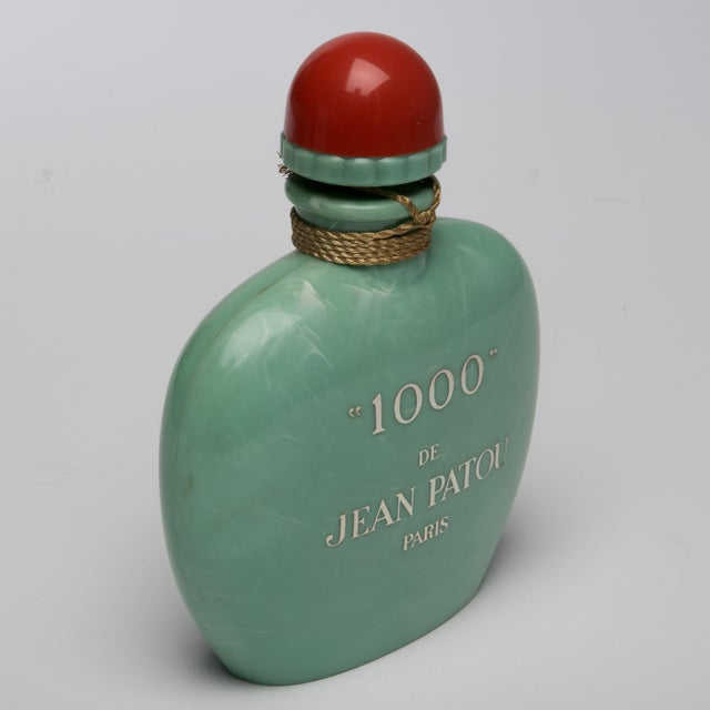 Vintage 1000 De Jean Patou Paris Jadeite Green Factis Store Display Perfume Bottle Chairish