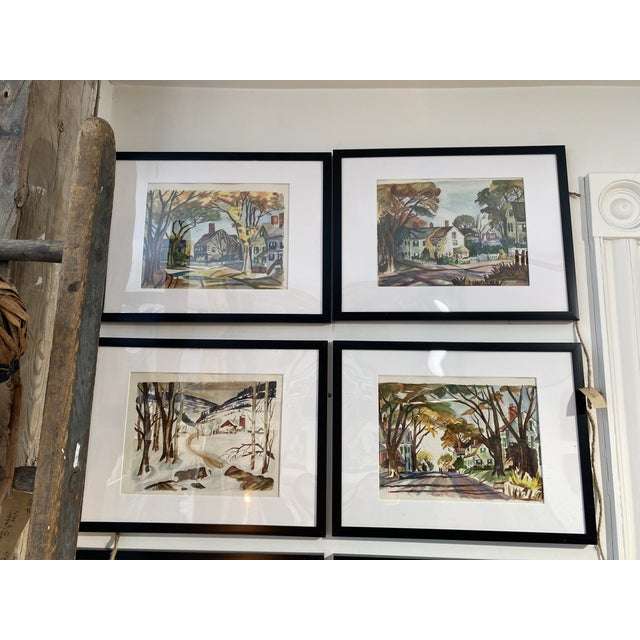 1950s Collection of Watercolors by Walter Killam - Set of 15 For Sale - Image 10 of 11
