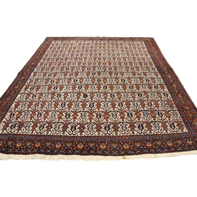 Antique Persian Afshar Rug - 05'01 X 06'03 For Sale - Image 4 of 9