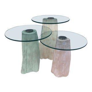 1960s Vintage Wood Nesting Tables - Set of 3 For Sale