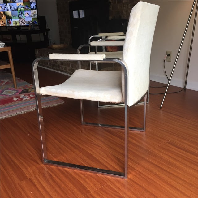 Milo Baughman Vintage Accent Chairs - Pair - Image 4 of 11