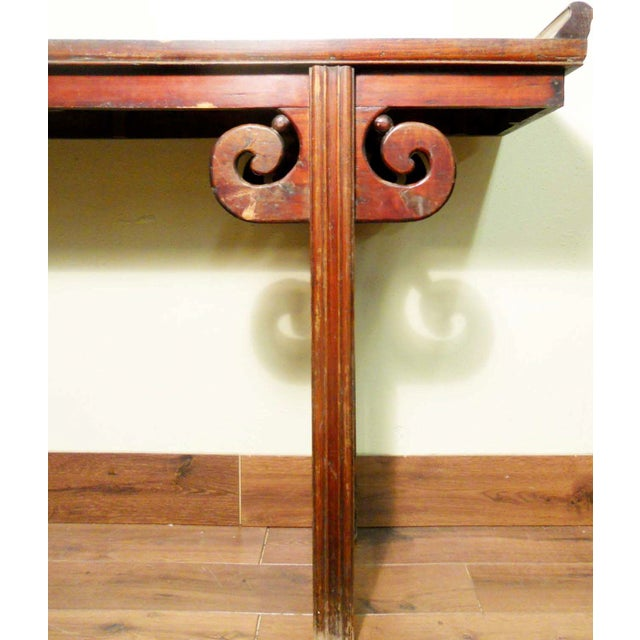 Brown Antique Chinese Ming Altar Table, 1800-1849 For Sale - Image 8 of 11