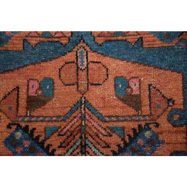 "Vintage Fine Hamadan Rug - 3'4"" x 6'4"" - Image 8 of 10"