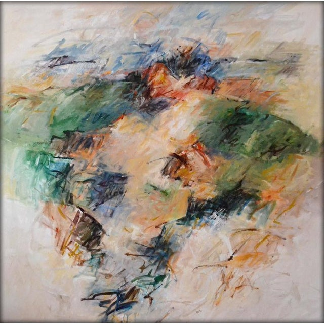 """Mary Lou Seifker Contemporary Abstract Acrylic Painting """"To Live a Dream"""" by Mary Lou Siefker For Sale - Image 4 of 4"""