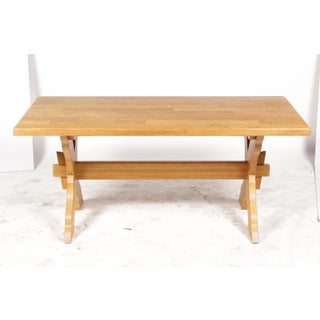 French Country-Style Trestle Dining Table Preview