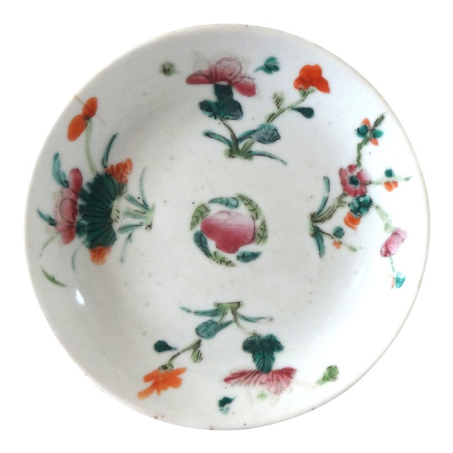 1736-1795 Qianlong Chinese Export Porcelain Famille Rose Dish For Sale