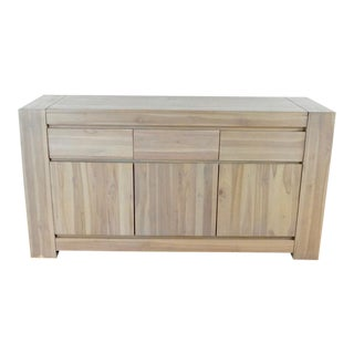Brownstone Contemporary Style Wooden Sideboard For Sale