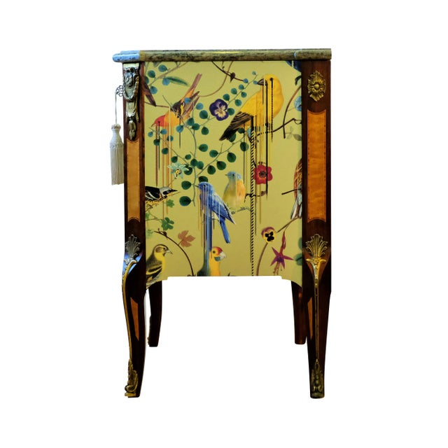 Yellow Christian Lacroix Style Commodes - a Pair For Sale - Image 8 of 9
