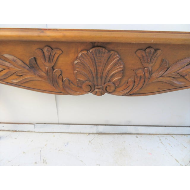 French Country French Style Carved Console Table For Sale - Image 3 of 4