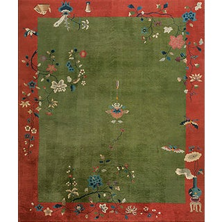 "Antique Chinese Art Deco Rug- 8'0"" X 10'0"" For Sale"