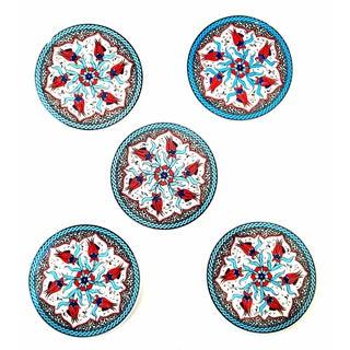 Turkish Handmade Coasters - Set of 5 For Sale