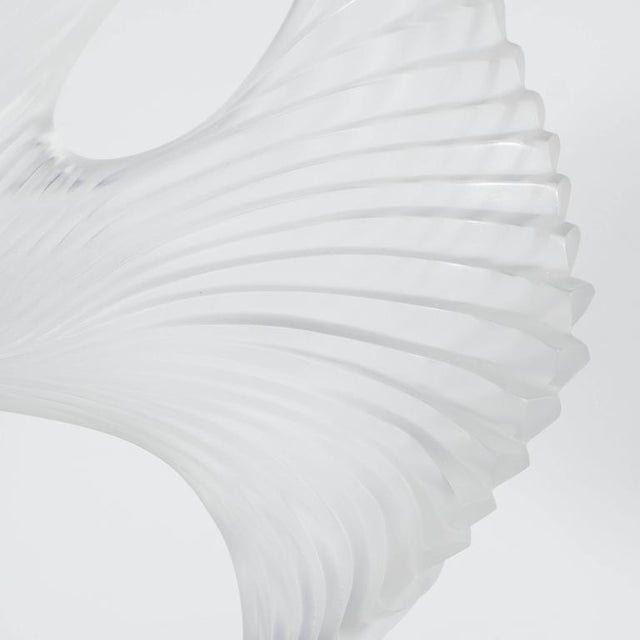 """Lalique Lalique """"Trophee"""" Sculpture in Frosted Clear Crystal, France, circa 1995 For Sale - Image 4 of 10"""