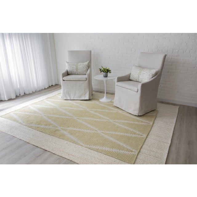 """Erin Gates by Momeni River Beacon Citron Indoor Outdoor Hand Woven Area Rug - 5' X 7'6"""" For Sale In Atlanta - Image 6 of 7"""