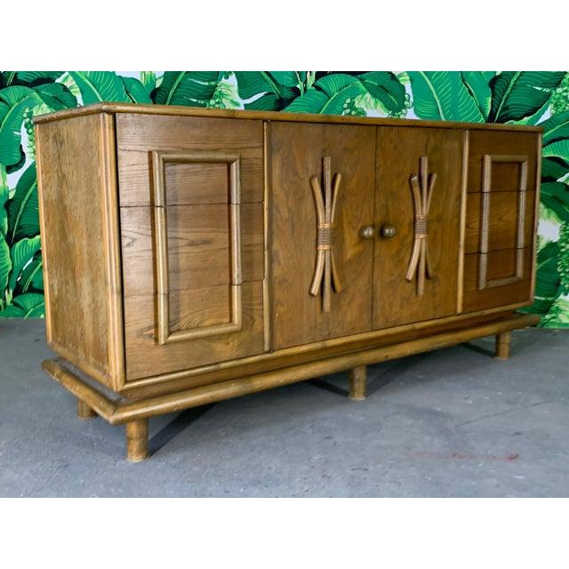 Polynesian Tiki Style Rattan Dresser For Sale - Image 11 of 11