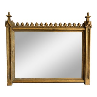 19th-C French Gilt Gothic Revival Mirror For Sale