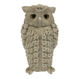 1980s Clarence Cameron Owl Man Sculpture For Sale
