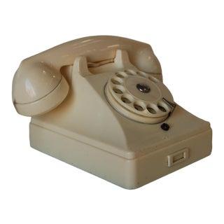 White Bakelite Ptt Telephone by Ericsson For Sale