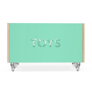 Toy Box Chest on Casters in Birch With Mint Finish Preview
