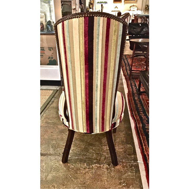 Mid-century Modern High Back Side Chairs - Pair - Image 5 of 7