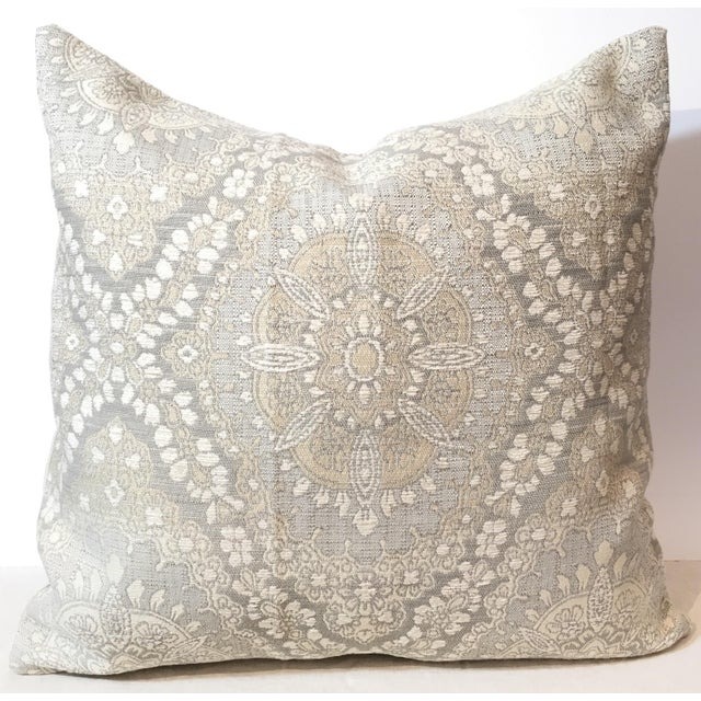 Traditional Pillow Easy Clean Medium : Designer Traditional Jacquard Pillow Cover Chairish