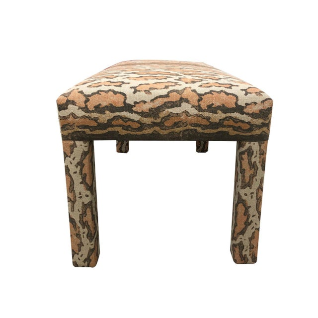 Late 20th Century Late 20th Century Parson Upholstered Bench For Sale - Image 5 of 9