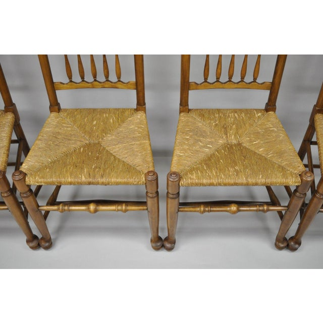 L & J G Stickley Fayetteville Queen Anne Cherry Dining Chairs - Set of 4 - Image 7 of 11