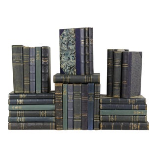 Leather-Bound Books - Set of 30