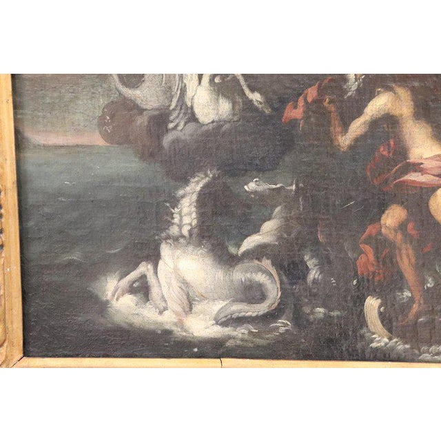 Illustration 17th Century Italian Oil Painting on Canvas, Subject Mythological For Sale - Image 3 of 13