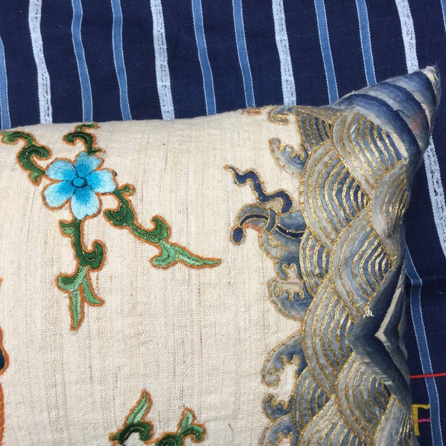 Chinese Emperor's Opera Robe Dragon Pillow - Image 5 of 8