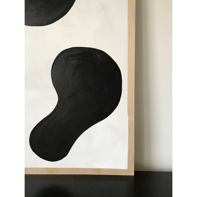2010s Modern Formation Monochrome Oversized Abstract Painting By Hannah Polskin For Sale - Image 5 of 11