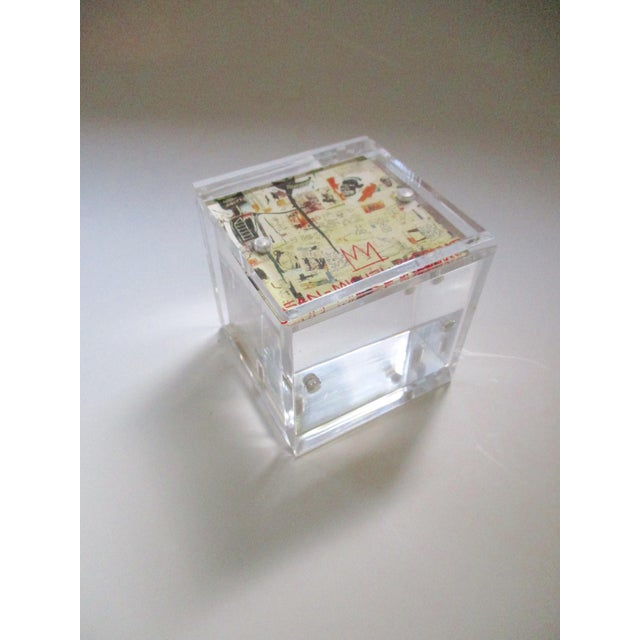 Lucite Cube Paperweight Picture Frame - Image 6 of 9