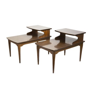Pair of Midcentury Step End Tables or Nightstands For Sale