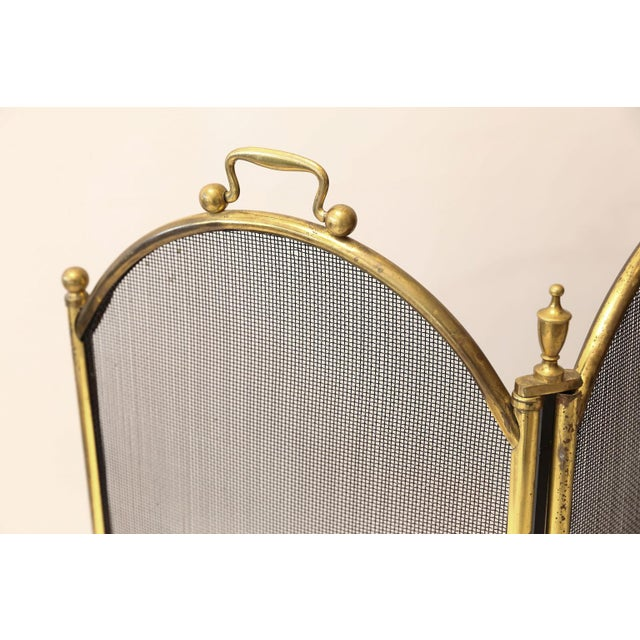 Edwardian Unusually Tall Heavy Fire Screen For Sale - Image 3 of 7