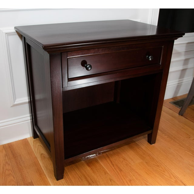 Pottery Barn Side Table with Deep Drawer - Image 2 of 3