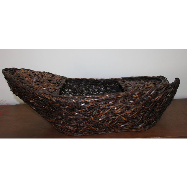 Japanese ikebana basket, gorgeous smoked bamboo (which was collected from the interior of old farmhouses and I think from...