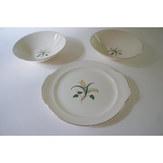 1960s Vintage Knowles Forsythia Dinnerware Service Set - 44 Pieces For Sale - Image 9 of 13