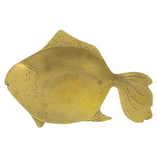 Mid-Century Brass Fish Catchall