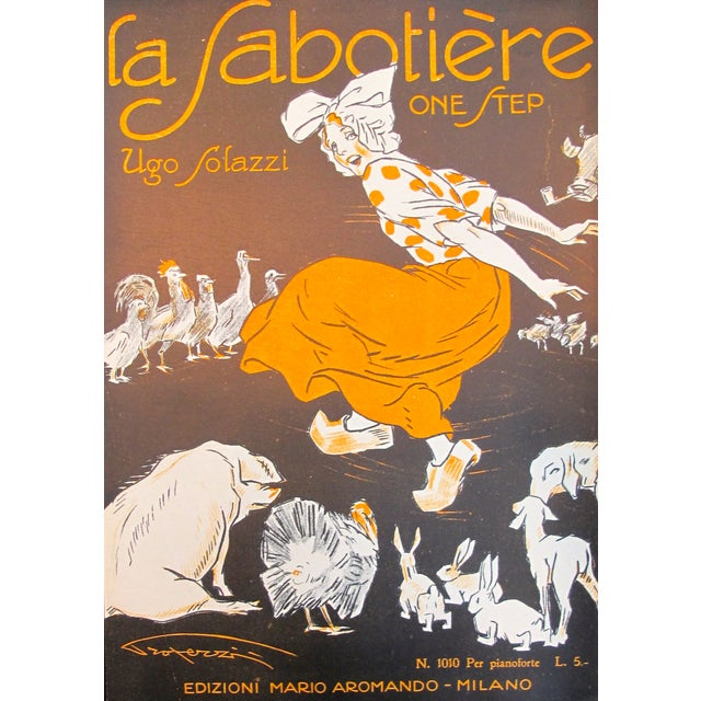 1925 Italian Music Sheet La Sabotiere For Sale - Image 6 of 6