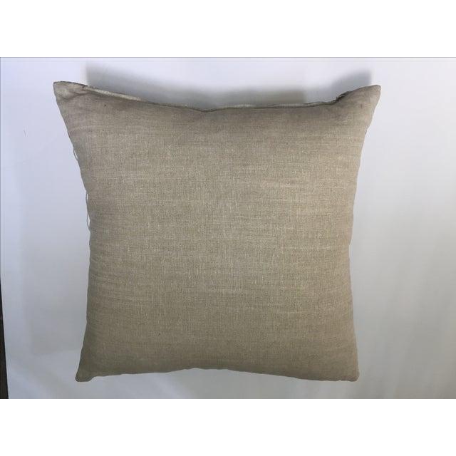Vintage Aso Oke Metallic Thread Pillow - Image 4 of 4