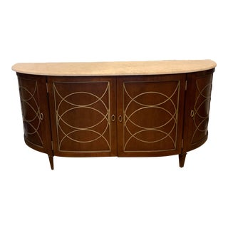 Duchamp Demilune Sideboard With Satillia Marble Top, by Hickory Chair Furniture For Sale