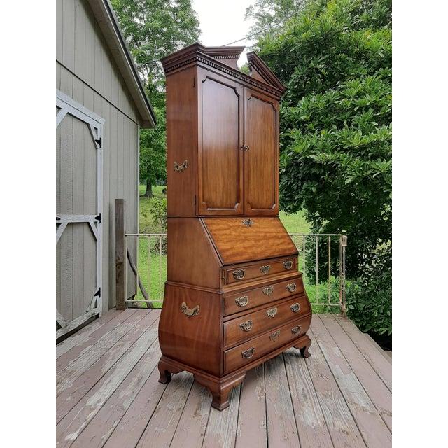 Vintage Drexel Wallace Nutting Bombe Kettle Base Blind Door Secretary Desk For Sale - Image 6 of 13