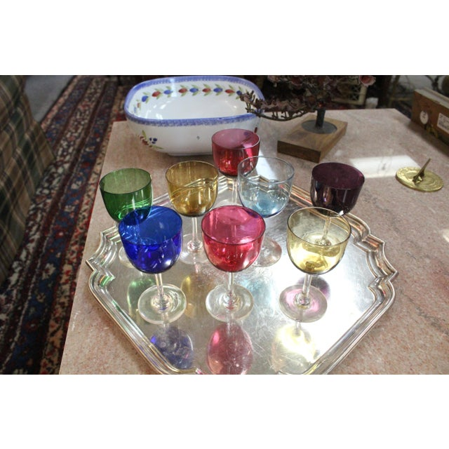 Mid 20th Century Rainbow Wine Glasses - Set of 8 For Sale In New York - Image 6 of 7
